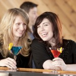 Real People: Caucasian Adult Women Bar Restaurant Drinks Head Sh