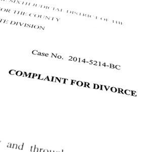 divorce complaint